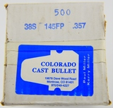NEW box 500 rds .38S 145 FP .357 Bullets