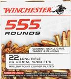 Winchester 555 Round Brick of .22 LR Hollow Point