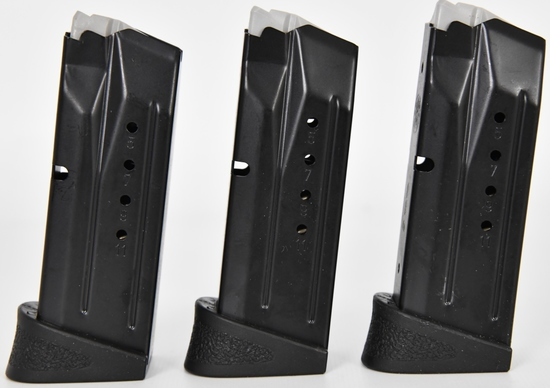 3- Smith & Wesson M&P 9mm comp magazines 12 Rd
