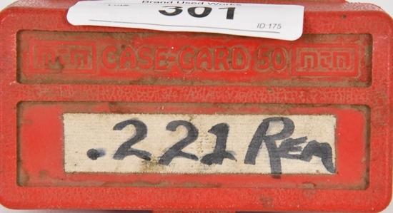 48 RDS OF .221 REM BRASS CARTRIDGES