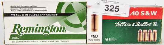 100 RDS OF .40 S&W REMINGTON & SELLIER & BELLOT