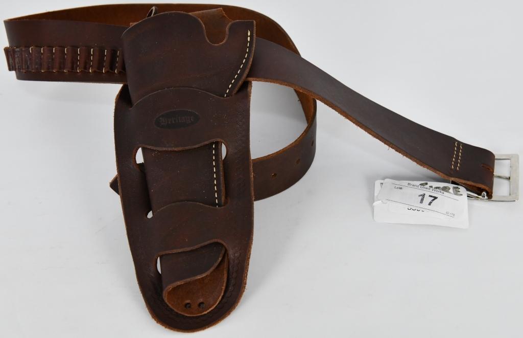 Hunter Heritage Leather Ammo Belt w/Holster