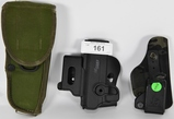 Lot of 3 Holsters 1 is US Military Issued M-12