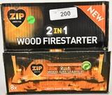 cs of Zip 2 in 1 Wood Firestarter Instant Light Ls