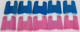 10 sets of 1911 rubber grips 5 pink 5 blue