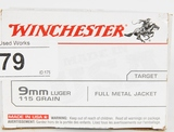 100 RDS OF WINCHESTER 9MM LUGER