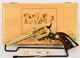 Colt Frontier Scout Commem Revolver .22LR Gold