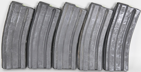 Lot of 5 AR-15 Mags Center Ind. Law Enforcement Go
