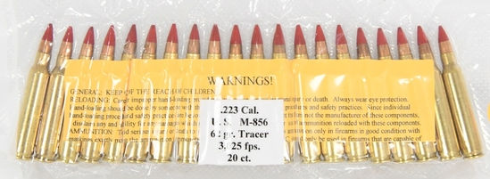20 Rounds Of .223 U.S M-856 Tracer Ammo