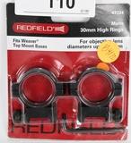 Redfield 47324 Aluminum Rings 30mm High Matte