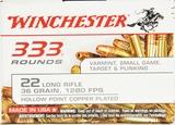 333 Rounds Winchester .22LR Ammunition