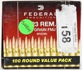 100 Rounds Federal Ammunition 223 Rem
