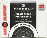 325 Rounds Federal AutoMatch .22LR Ammunition