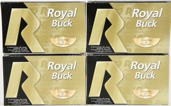 20 Rounds Of Royal Buck 12 Ga 00 Buckshots