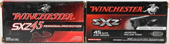 100 Rounds Of WInchester SXZ .45 Auto Ammo
