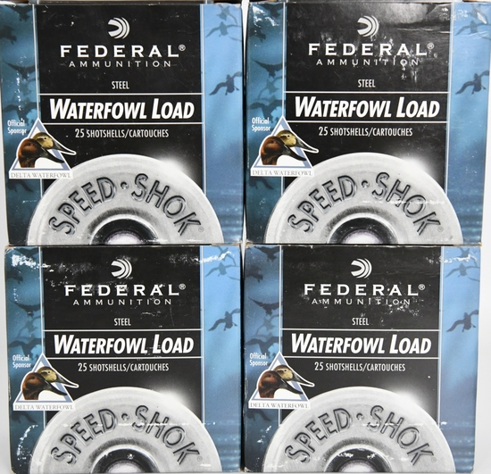100 Rounds Federal Speed Shok Waterfowl 12 GA