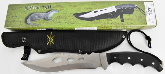 FROST CUTLERY BEAVER TRAIL BOWIE STAINLESS STEEL E