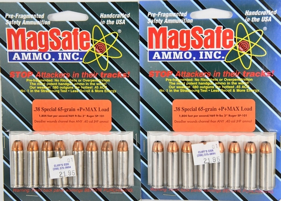 16 Rounds Of MagSafe .38 Special + P Max Load Ammo