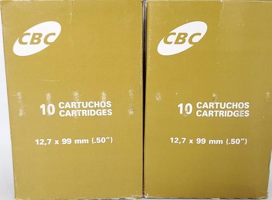 20 Rounds CBC Sport Ammunition 50 BMG Ammo