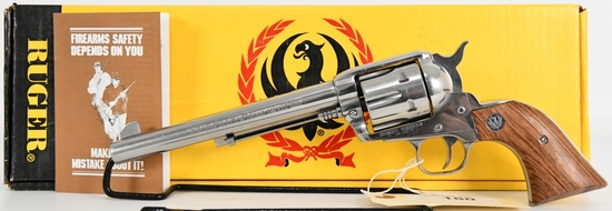 """Ruger Vaquero .45 Cal Stainless Revolver 7.5"""" BBL"""