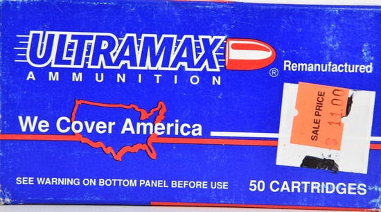 50 Rounds Of Ultramax 9mm Luger Ammunition