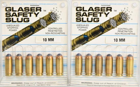 12 Rounds Of Glaser Safety Slug 10mm ammunition