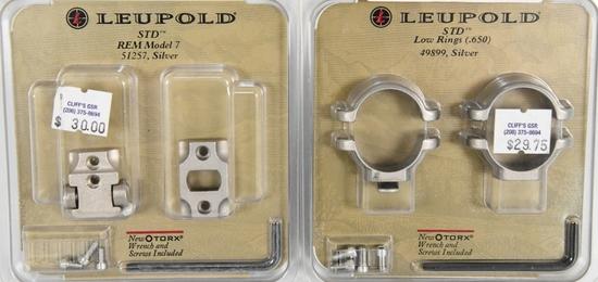 NEW Leupold STD Low Rings & STD Rem Model 7