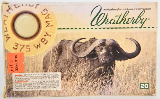 20 Rounds Weatherby .375 Weatherby Magnum Ammo