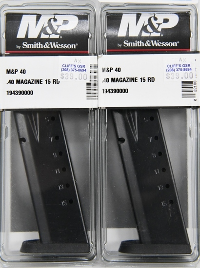 lot of 2 - S & W M&P 40 s&w/357 Sig 15rd New Mags