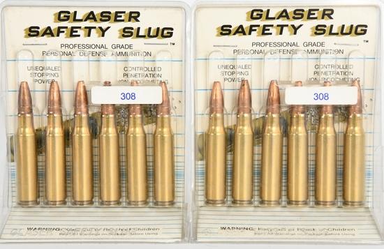 12 Rounds Of Glaser Safety Slugs .308 Ammunition