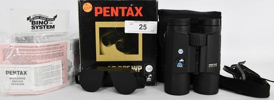 Pentax 8x42 DCF WP Binoculars In Original Box