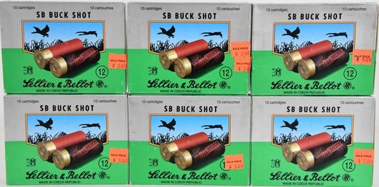 60 Rounds Of Sellier & Bellot 12 Ga SB Buck Shots