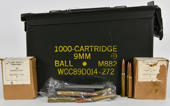 130 Rounds Of Military Grade 7mm Mauser Ammunition