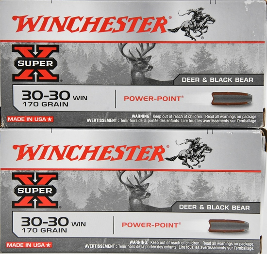 40 Rounds Winchester Super X .30-30 Winchester