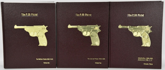 THE P.38 PISTOL, VOLUMES ONE, TWO & THREE SIGNED!