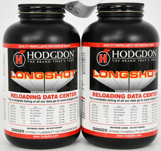 Lot of 2 Hodgdon Pistol/Shotgun Longshot 1lb each