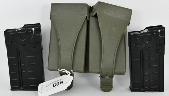 Lot of 2 G3 HK Mags # USGI Double Mag Pouch