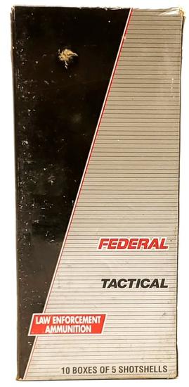 50 Rounds Of Federal Tactical 12 Ga Shotshells