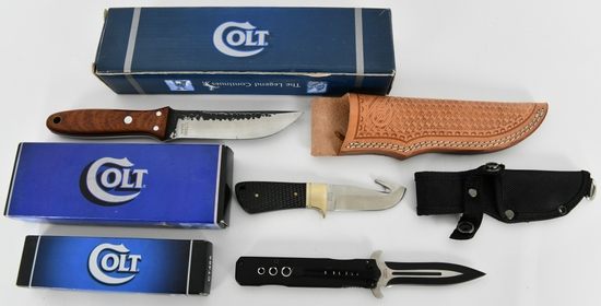 Lot of 3 New In Box Colt Knives