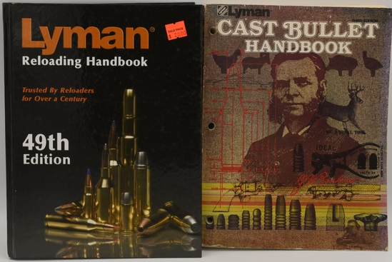 Lot of 2 Lyman Reloading Books