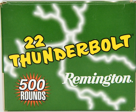 500 Rounds Remington Thunderbolt .22 LR Ammunition