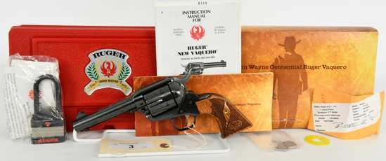 Unfired John Wayne Ruger Vaquero Limited .45 LC
