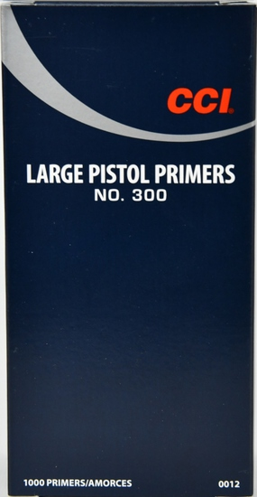 1000 CCI Large Pistol Primers No. 300