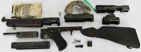 Original U.S. WWII Thompson M1928A1 SMG Parts Kit