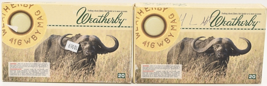 24 Rounds Weatherby .416 Weatherby Magnum Ammo