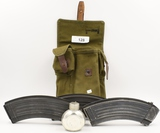 AK-47 Canvas Olive Green Mag Pouch