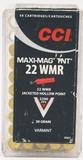 43 Rounds Of CCi .22 WMR Ammunition