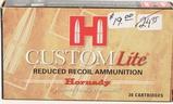 20 Rounds Hornady .30-30 Winchester Custom Lite
