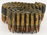 7.62x51mm Nato bullet Belt link with .308 ammo