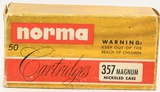 50 Rounds of Norma .357 Magnum Ammunition